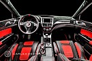 Subaru Cosworth Impreza STI CS400 interior customized by Carlex