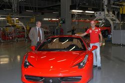 Felipe Massa with Ferrari 458 Italia