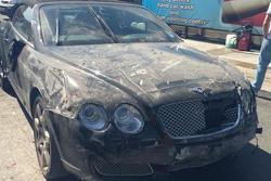 Wrecked Bentley Continental GTC 25.05.2013
